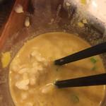 しゅういち - 冷たいカレーつけ汁にご飯がよく合う。