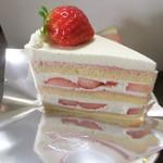 ヴァン・サンク - いちごのショートケーキ(値段失念)