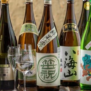 和食と相性抜群!日本酒・焼酎も豊富