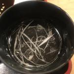 牛弁慶 - 黒タンシチュー定食1,296円のテールスープ