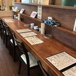 ラーメン獅子〇 - 厨房側のカウンター席(2017.9.22)