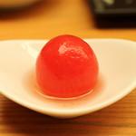 とんかつひなた - トマトの甘酢漬け
