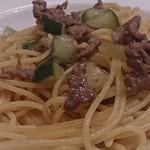 73541902 - 牛肉とズッキーニのペペロンチーノ