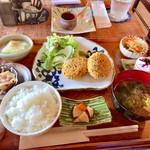 穂乃屋 - 料理写真:穂乃屋膳(\980) かぼちゃコロッケ