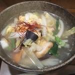 新潟の地酒と銀シャリ 信 - 和風出汁の豚吸い