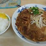 73545519 - 中華そば肉入り(中)&ごはん(小)
