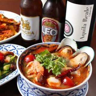 アジア、エスニック料理にさっぱりのシンハービール!
