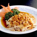 中国料理 慶福楼 - 蒸し鶏のごまソースがけ