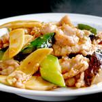中国料理 慶福楼 - 薄切り豚肉と野菜の辛味炒め