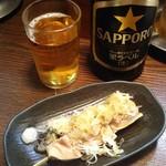 73551914 - 中瓶ビール+ガツ/冷製