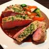 山形豚 肩ロース肉のグリル 〜キノコのソース〜