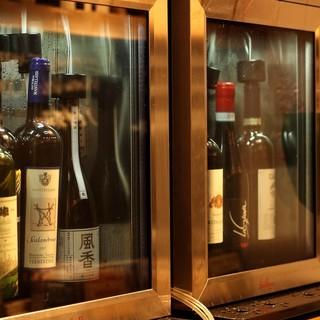 【ソムリエの資格を持つシェフが厳選】こだわりのワイン
