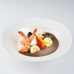 ティアラス - オリジナルシーフードカレー たっぷり有機野菜のグリル
