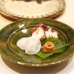 鮨処 有馬 - ☆ヤナギダコ 柔らか煮と刺身