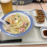 73571395 - スナックちゃんぽん ビール ギョーザ(^^)