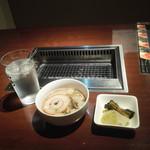 扇の牛TOKYO - 車麩の吸い物と漬け物