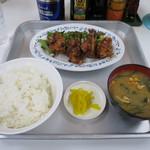 一休食堂 - 鶏唐揚げ定食