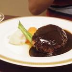 グリル丸の内亭 - 夜ランチ 黒毛和牛のハンバーグステーキ