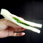 パオン昭月 - 三色サンドのハムサンド