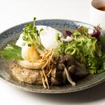 ボローニャ・吉虎 - きのこ・大葉・レンコンの和風おろしハンバーグ