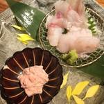 mon - どんこ刺身 肝醤油
