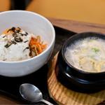 まる飯 - ソルロンタン+ナムルビビンバ定食