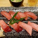 築地寿司岩 - 料理写真:まぐろづくし松 3300円