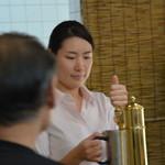 白馬ハイランドホテル - 生ビールはドラフトマスターのスタッフが注ぎます! 中ジョッキ650円