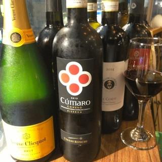 おすすめグラスワイン各種ご用意しております。