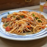 家庭料理 小川 - いわしフィレトマトソースパスタ