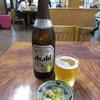 くるまや本店 - 料理写真:瓶ビールとおつまみ