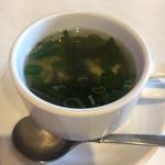 カレーハウスエル - スープ付いた