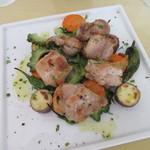 窯蔵 - 「国産とりもも肉と新鮮野菜の窯焼き」