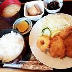 食事処 ぐるめ亭 - 料理写真:ミックスフライ定食 1,100円 2017/09
