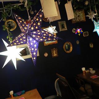 星が輝く夜空をモチーフに・・・心落ち着く空間