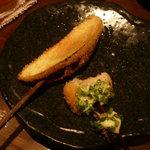 串揚げひょうたん - タルタルソースが美味しそうだったので、一口食べてしまいました。