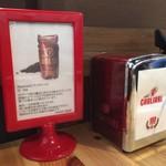 カフェ カリアーリ - テーブルの上