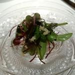 銀座 レカン - 茄子のマリネ 山梨の梨 新芽 みずの実