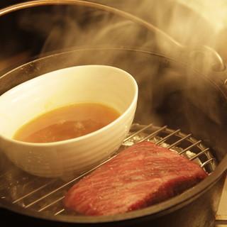 ダッチオーブンで作る黒毛和牛の瞬間燻製☆