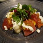 レストランキハチ - 料理写真:前菜:鮪のカルパッチョ