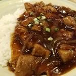 73598600 - 黒胡椒牛肉かけ飯