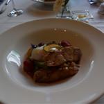 Restaurant27 - 総州古白鶏もも肉のロースト、日本一こだわり卵の温度卵添え