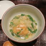 奈良 而今 - 29年9月 冬瓜、筒井蓮根餅、菊菜、蟹餡掛け
