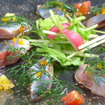 産地直送 お魚とお野菜 海畑 - さんまカルパッチョ