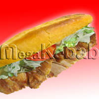 メガ ケバブ - フランスパン ミディアム(チキン)