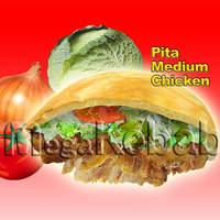 メガ ケバブ - ピタパン ミディアム (チキン)、ポテトセット(ポテト+ソフトドリンク)