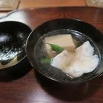 Naruya - 29年9月 クエと胡麻豆腐の椀