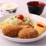 味はらプチ食堂 - コロッケ定食【味はら】