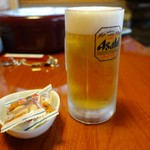 暁園 - (2017/8月 夕食)生ビール