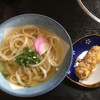 うどんや まるちゃん - 料理写真:かけうどん320円 ちくわ天100円